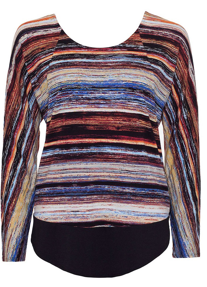 Brush-Stripe-Print-Tee